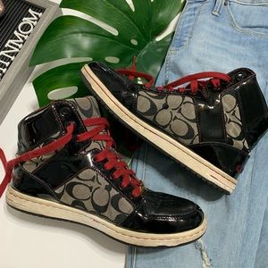 ‼️COACH NORRA High Top Sneakers Size 9‼️